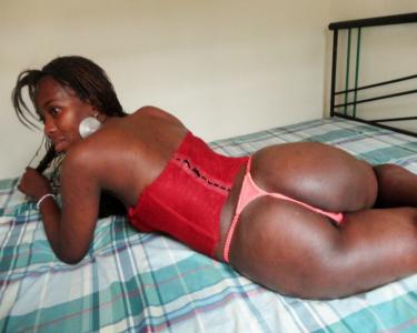 Fat ass of ebony cam girl
